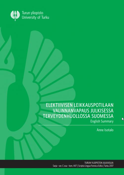 Elektiivisen leikkauspotilaan valinnanvapaus -julkaisu